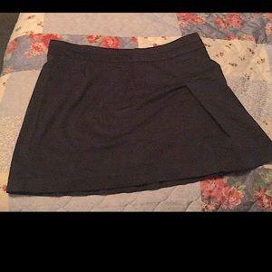 Solid Black Mini Skirt